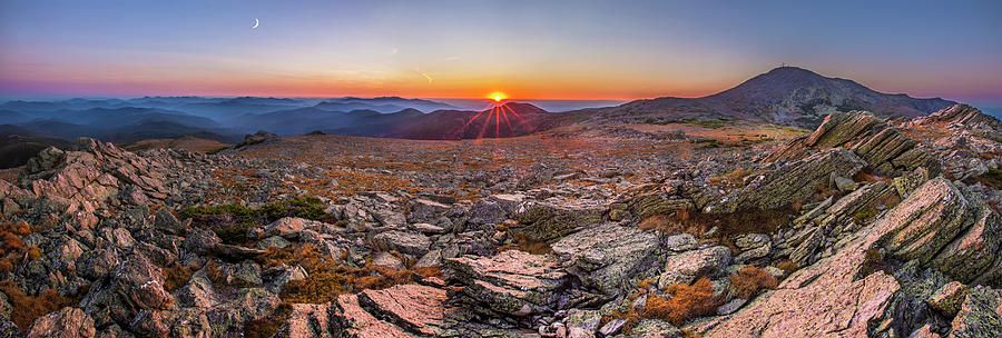 Spur Photograph - Boott Spur Sunset Panorama by Chris Whiton
