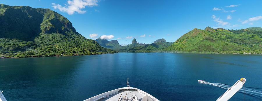 Boat Tour Photograph - Bora, Bora, French Polynesia by Douglas Peebles