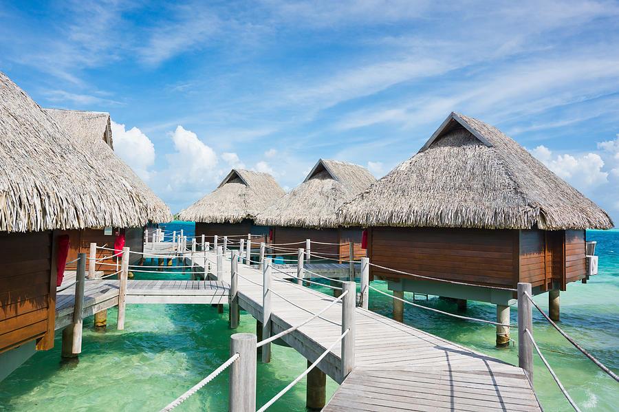 Bora-bora Island Stilt Huts Luxury Photograph by Mlenny