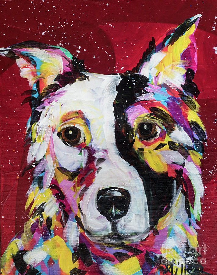 Tracy Miller Painting - Border Collie by Tracy Miller