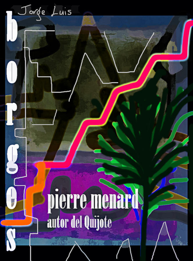 Borges Menard poster  by Paul Sutcliffe