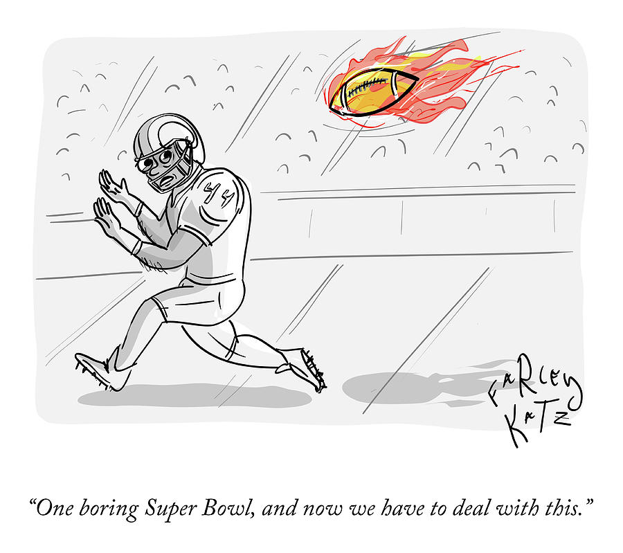 Boring Superbowl Drawing by Farley Katz