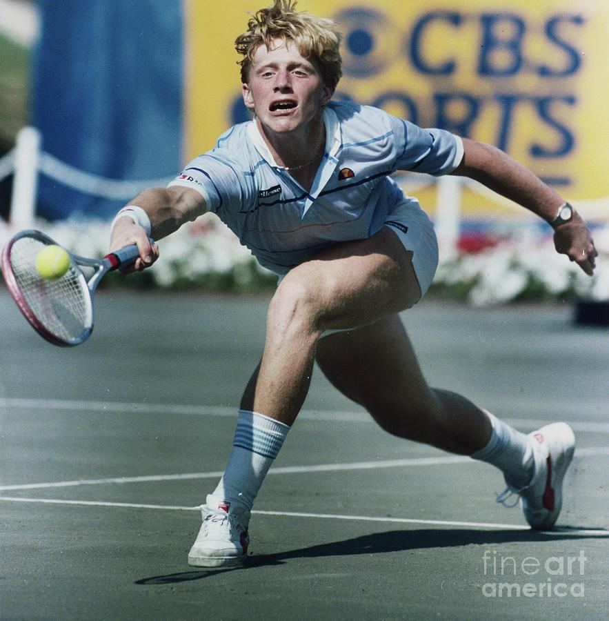 Boris Becker In Quick Tennis Action Photograph by Bettmann
