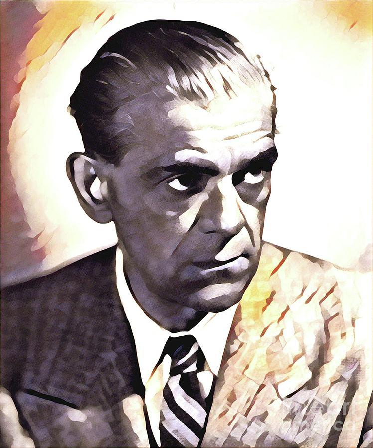 Boris Karloff, Hollywood Legend Painting