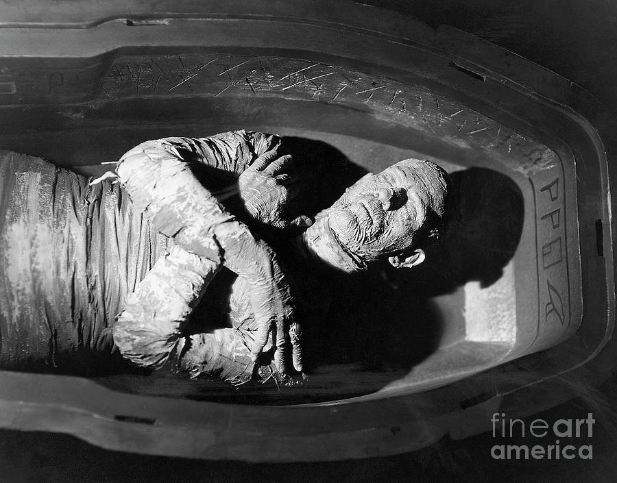Boris Karloff In Coffin In The Mummy Photograph by Bettmann