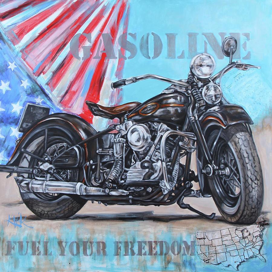 Riding Bikes Mixed Media - Born Free by Katia Von Kral