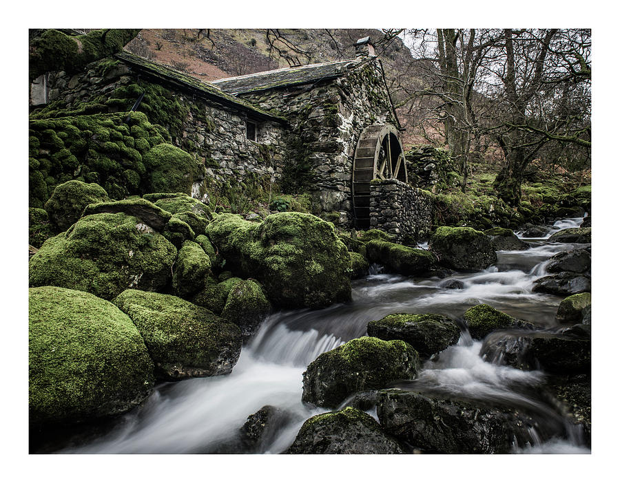 Lake District Photograph - Borrowdale Mill  by Mark Mc neill