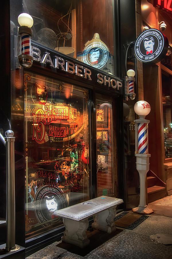 Boston Barber And Tattoo by Joann Vitali