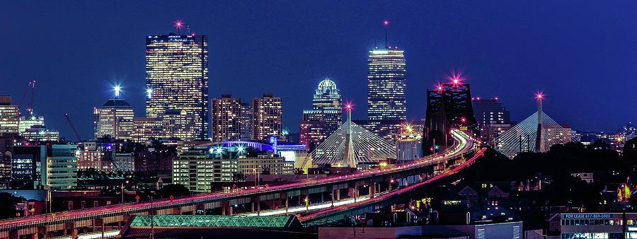 Boston Blue Hour Skyline Photograph by (c) Swapan Jha
