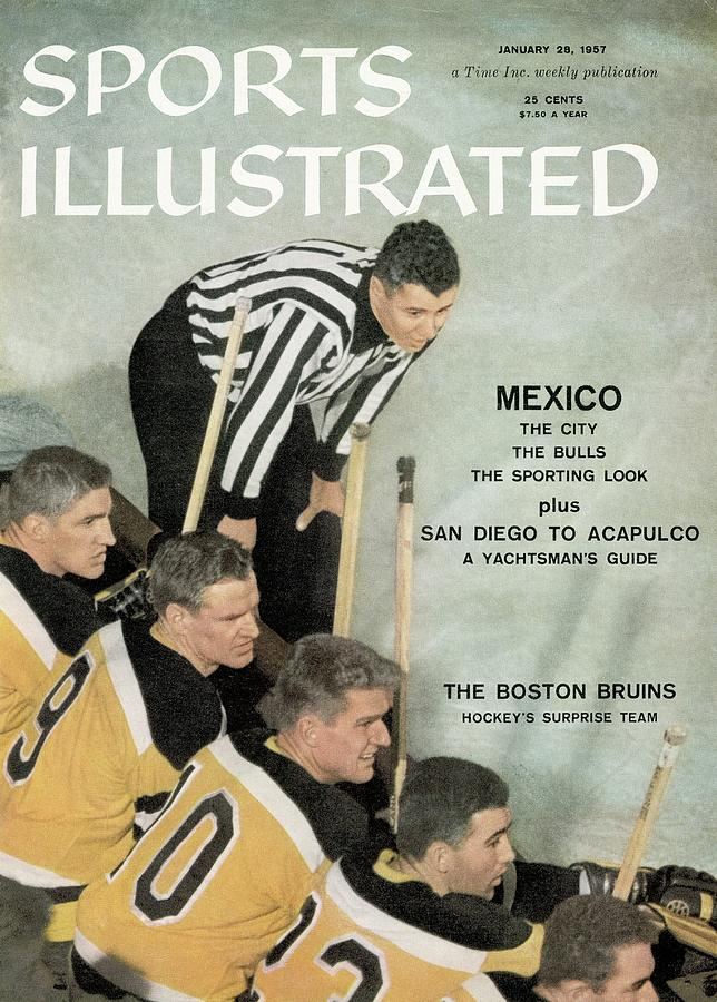 Boston Bruins Bench Sports Illustrated Cover Photograph by Sports Illustrated