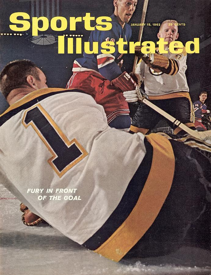 Boston Bruins Goalie Don Head And Patrick Stapleton Sports Illustrated Cover Photograph by Sports Illustrated