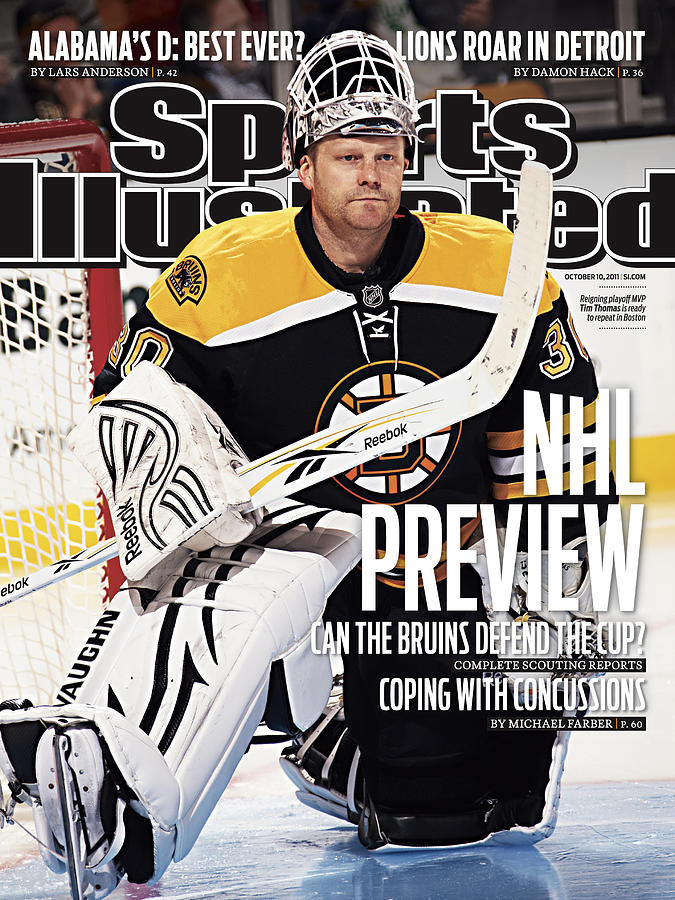 Boston Bruins Goalie Tim Thomas, 2011-12 Nhl Hockey Season Sports Illustrated Cover Photograph by Sports Illustrated