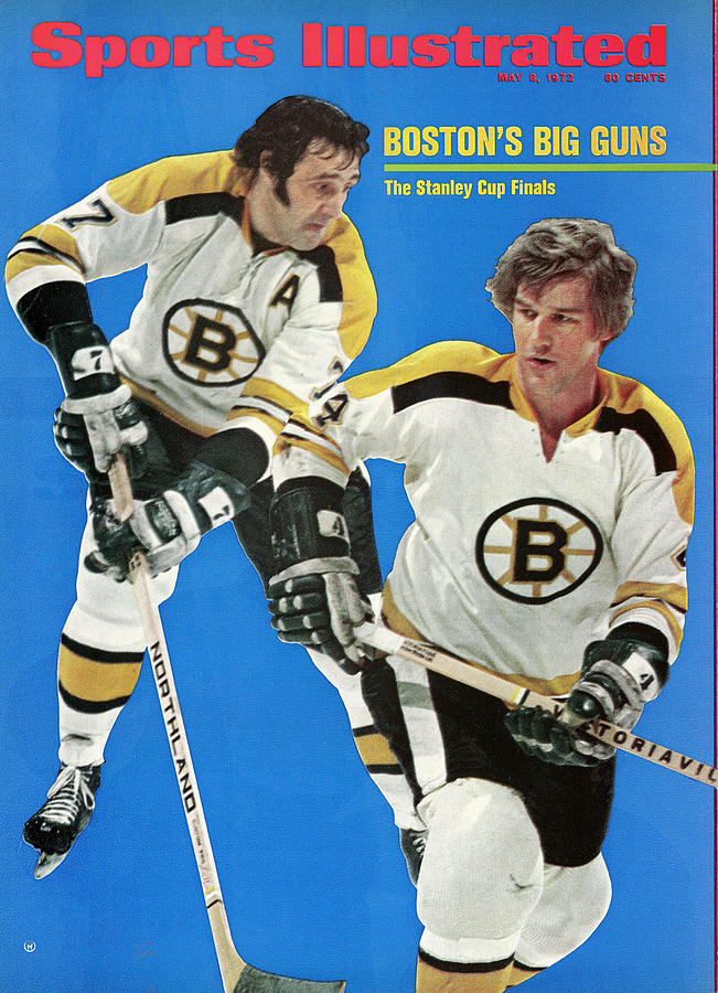 Boston Bruins Phil Esposito And Bobby Orr, 1972 Nhl Sports Illustrated Cover Photograph by Sports Illustrated