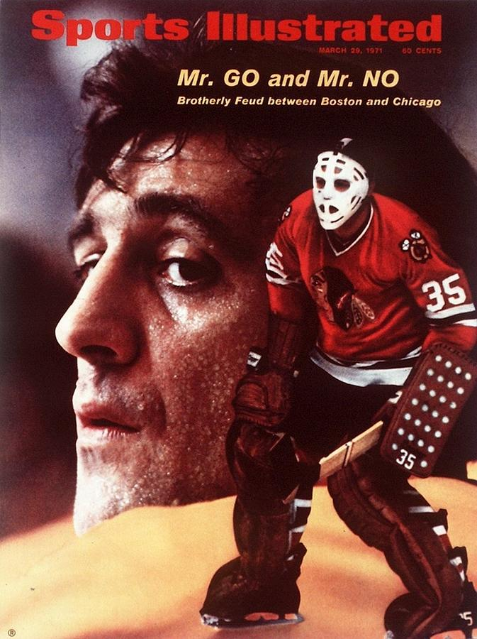 Boston Bruins Phil Esposito And Chicago Blackhawks Goalie Sports Illustrated Cover Photograph by Sports Illustrated