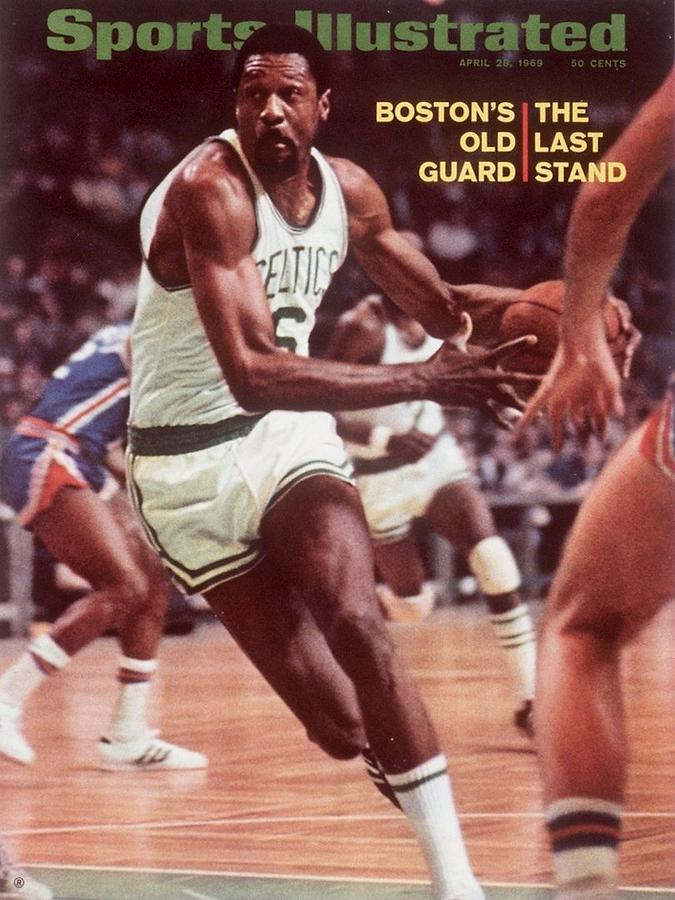 Boston Celtics Bill Russell, 1969 Nba Eastern Division Sports Illustrated Cover Photograph by Sports Illustrated