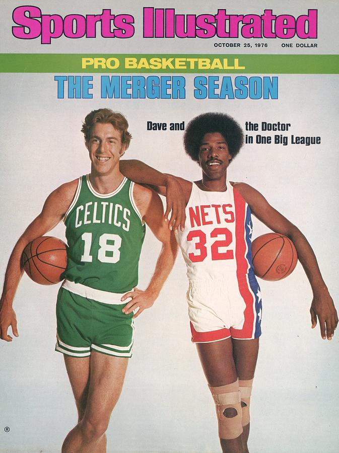 Boston Celtics Dave Cowen And New York Nets Julius Erving Sports Illustrated Cover Photograph by Sports Illustrated