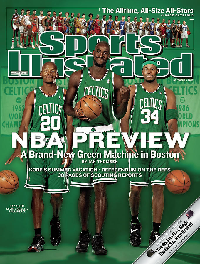Boston Celtics Kevin Garnett, Ray Allen, And Paul Pierce Sports Illustrated Cover Photograph by Sports Illustrated