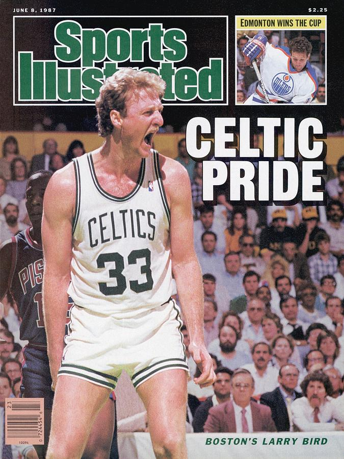 Boston Celtics Larry Bird, 1987 Nba Eastern Conference Sports Illustrated Cover Photograph by Sports Illustrated