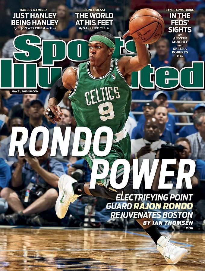 Boston Celtics Rajon Rondo, 2010 Nba Eastern Conference Sports Illustrated Cover Photograph by Sports Illustrated