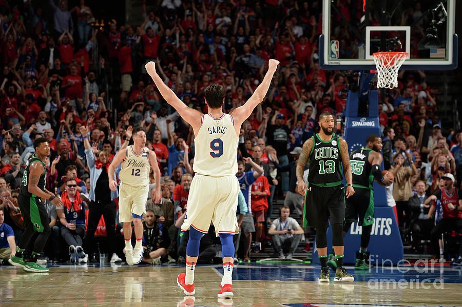 Boston Celtics V Philadelphia 76ers - Photograph by David Dow