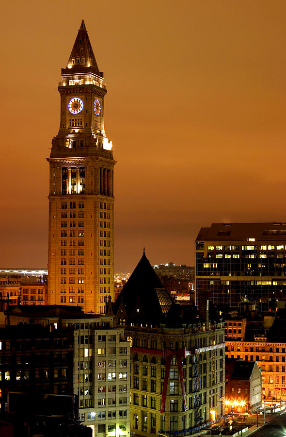 Boston Clock Tower - Custom House Photograph by Jsmith