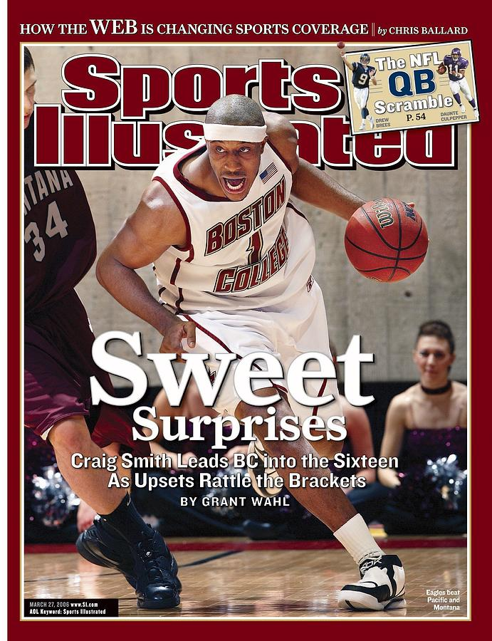 Boston College Craig Smith, 2006 Ncaa Playoffs Sports Illustrated Cover Photograph by Sports Illustrated