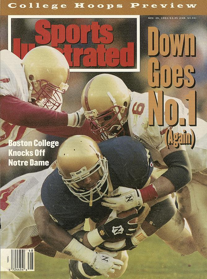 Boston College Defense Stops University Of Notre Dame Sports Illustrated Cover Photograph by Sports Illustrated