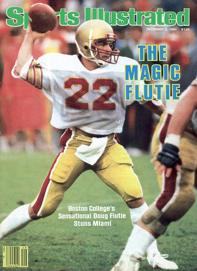 Boston College Qb Doug Flutie... Sports Illustrated Cover Photograph by Sports Illustrated
