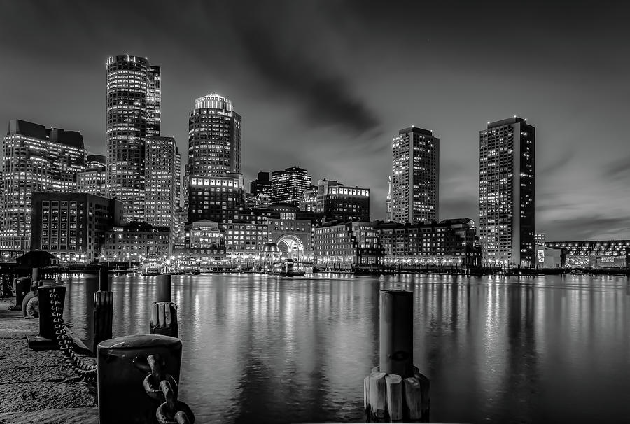 Boston Fan Pier black and white by Hershey Art Images