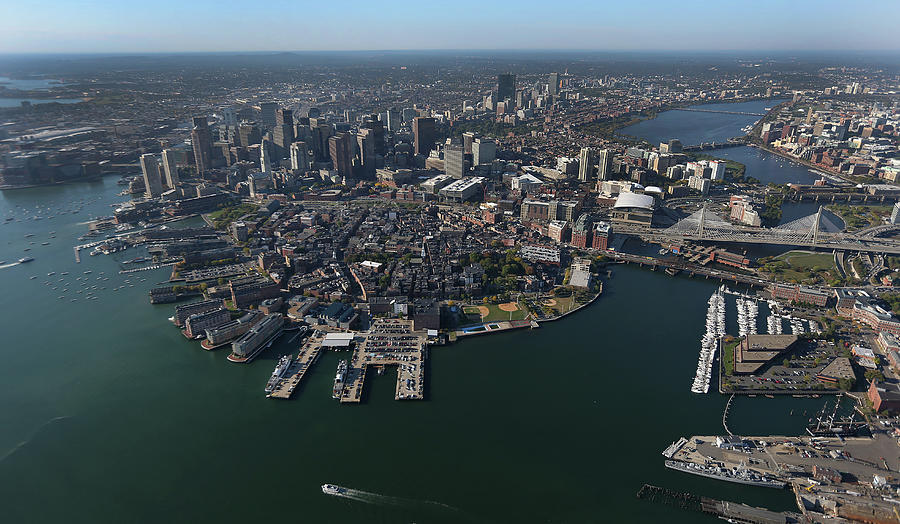 Boston From The Sky Photograph by Boston Globe