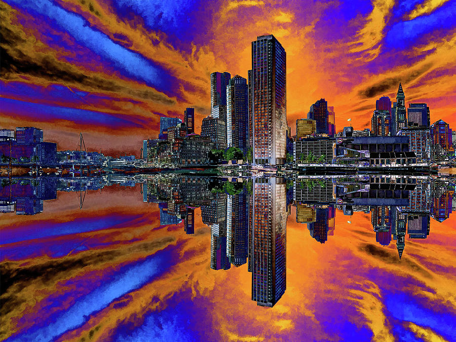 Boston Harbor Psychedelic Flip by Gordon Engebretson