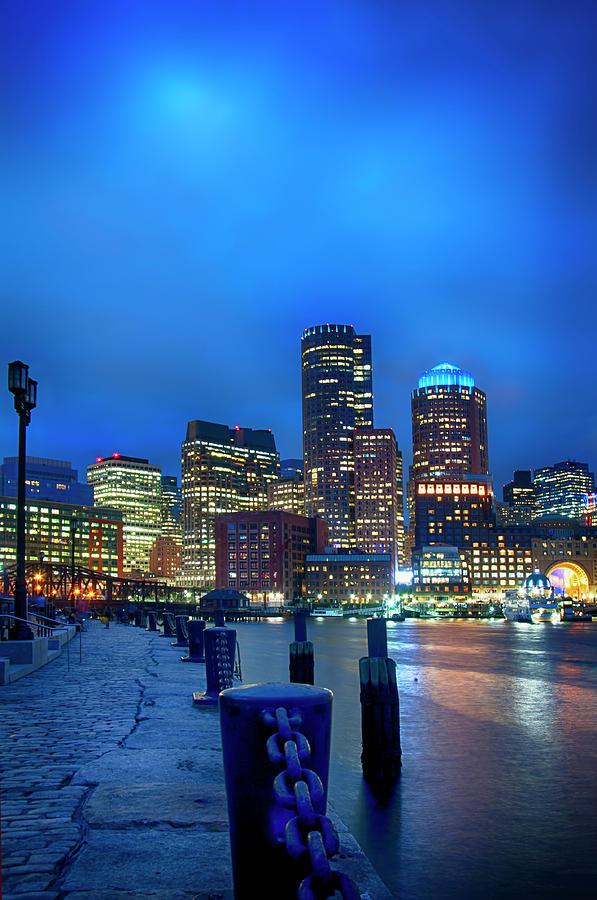 Boston Harbor Skyline from Fan Pier by Joann Vitali