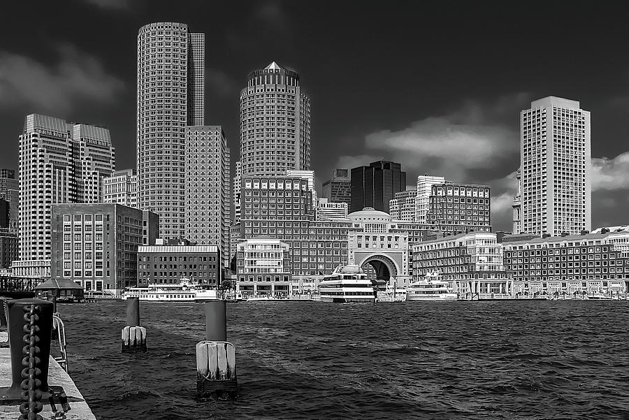 Boston Harbor Skyline by Robert Mitchell