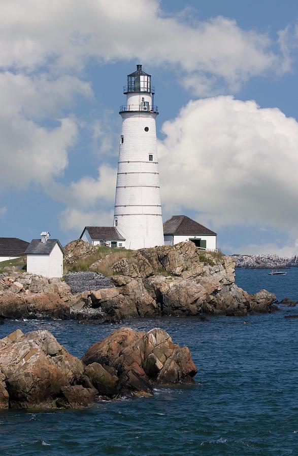 Boston Light Ma Photograph by Kickstand