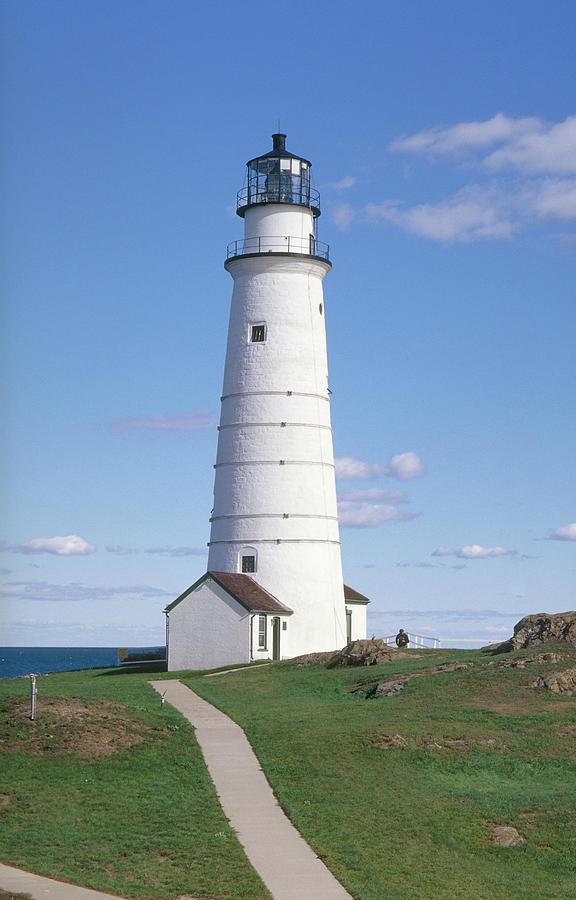 Boston Lighthouse Photograph by Wbritten
