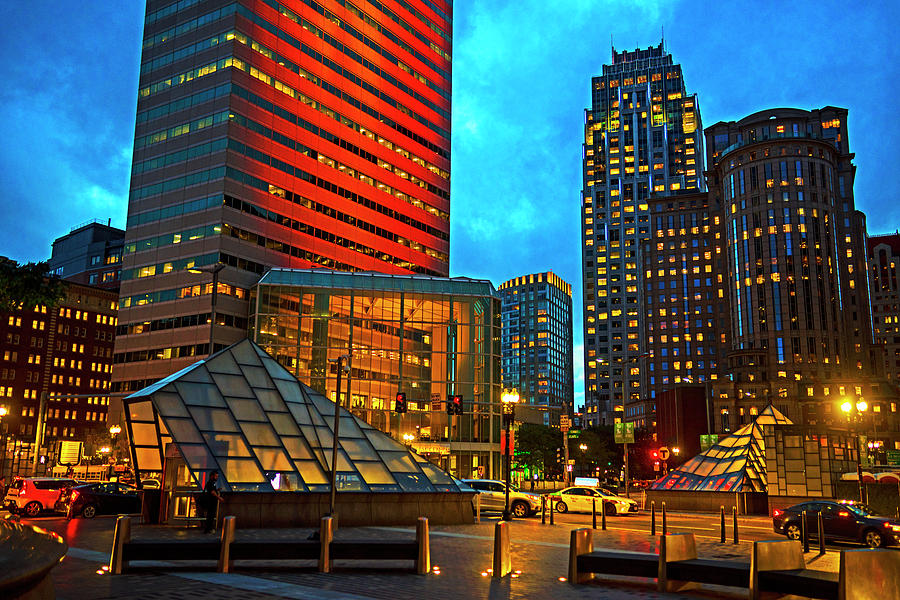 Boston MA Atlantic Ave at Dusk by Toby McGuire