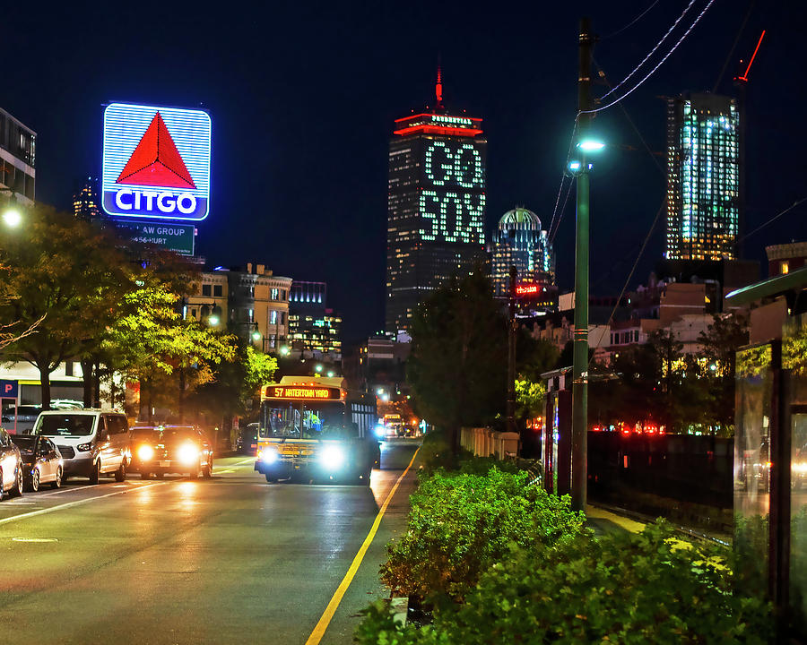 Boston MA Commonwealth Ave Citgo Sign by Toby McGuire