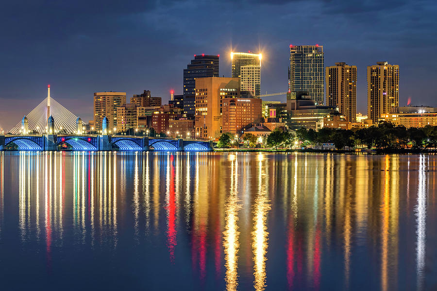Boston Massachusetts Skyline Reflections on the Charles River by Gregory Ballos