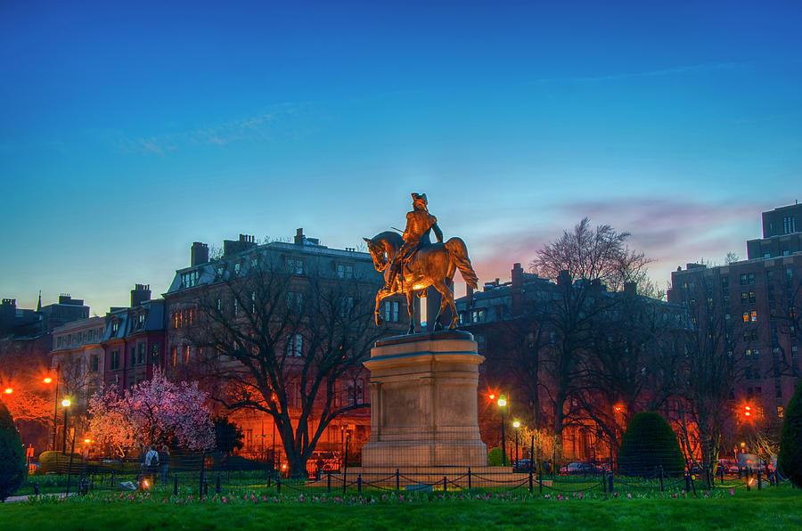 Boston Public Garden Blue Hour by Joann Vitali