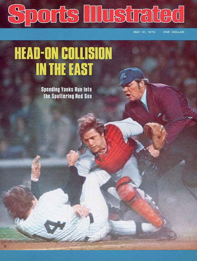 Boston Red Sox Carlton Fisk... Sports Illustrated Cover Photograph by Sports Illustrated
