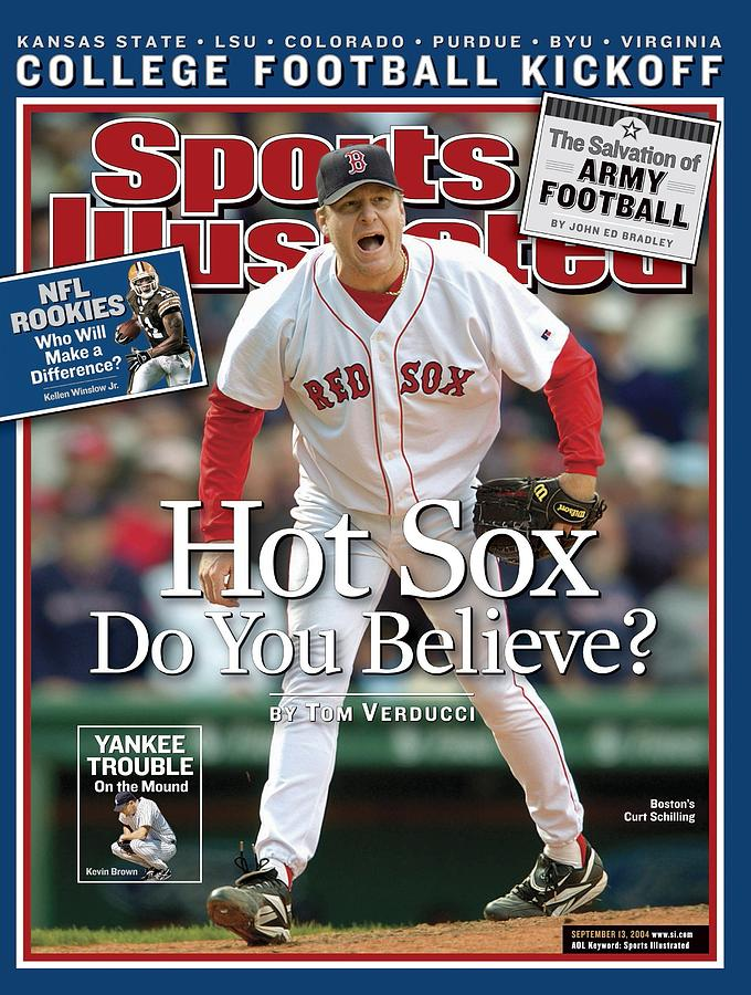 Boston Red Sox Curt Schilling... Sports Illustrated Cover Photograph by Sports Illustrated