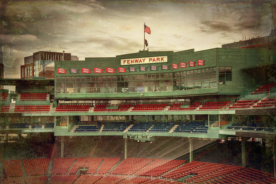 Boston Red Sox Fenway Park Press Box by Joann Vitali