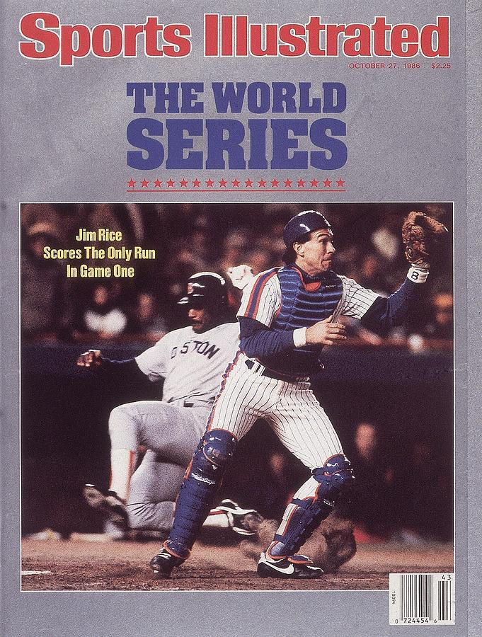 Boston Red Sox Jim Rice, 1986 World Series Sports Illustrated Cover Photograph by Sports Illustrated