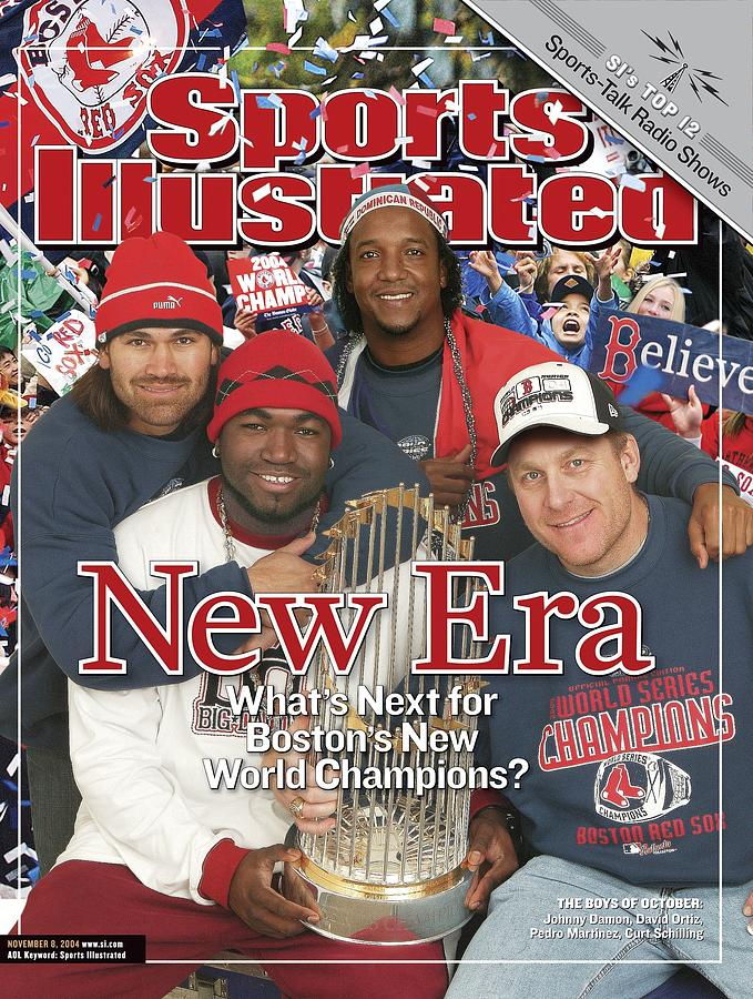 Boston Red Sox Johnny Damon, David Ortiz, Pedro Martinez Sports Illustrated Cover Photograph by Sports Illustrated