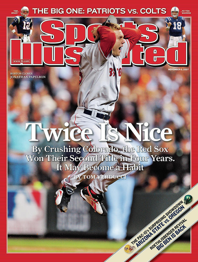 Boston Red Sox Jonathan Papelbon, 2007 World Series Sports Illustrated Cover Photograph by Sports Illustrated