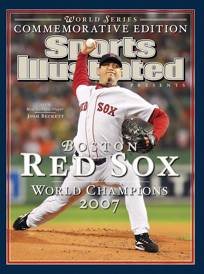 Boston Red Sox Josh Beckett, 2007 World Series Sports Illustrated Cover Photograph by Sports Illustrated