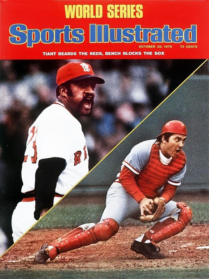 Boston Red Sox Luis Tiant And Cincinnati Reds Johnny Bench Sports Illustrated Cover Photograph by Sports Illustrated