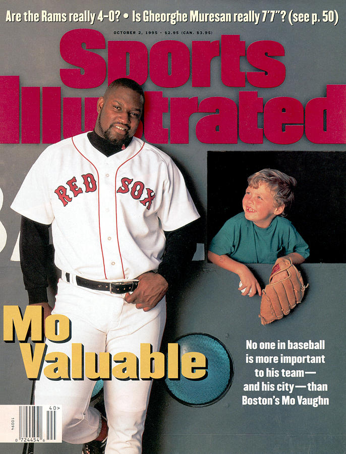 Boston Red Sox Mo Vaughn Sports Illustrated Cover Photograph by Sports Illustrated