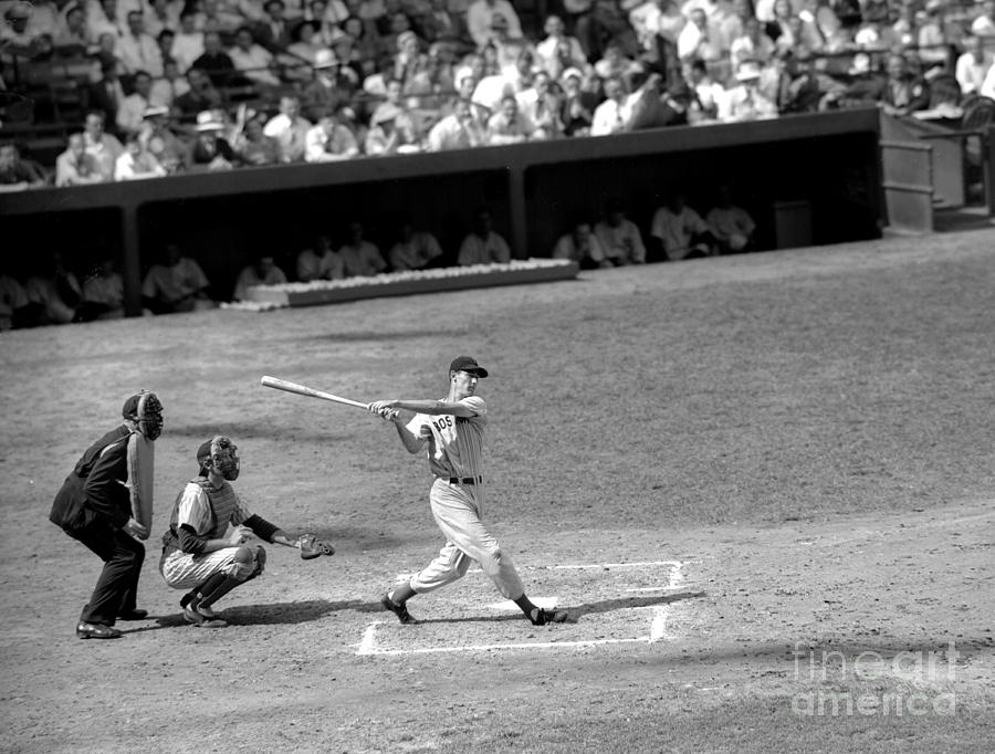 Boston Red Sox Slugger Ted Williams Photograph by New York Daily News Archive