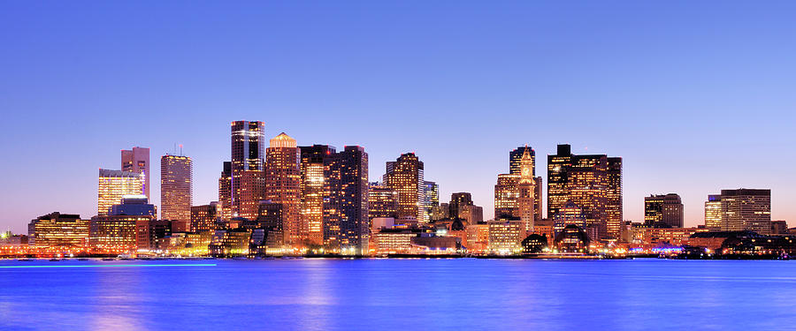 Boston Skyline At Twilight Photograph by Sean Pavone